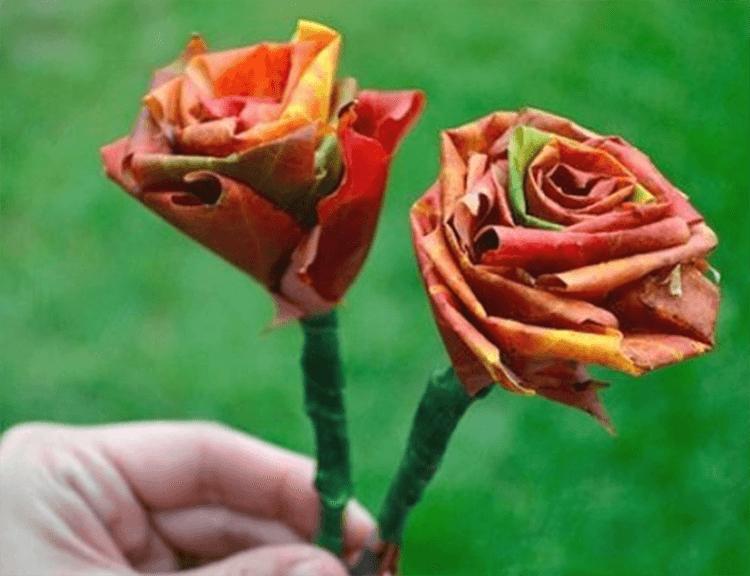 Интересные и красивые поделки из осенних листьев в садик и школу osennie podelki iz listev 67