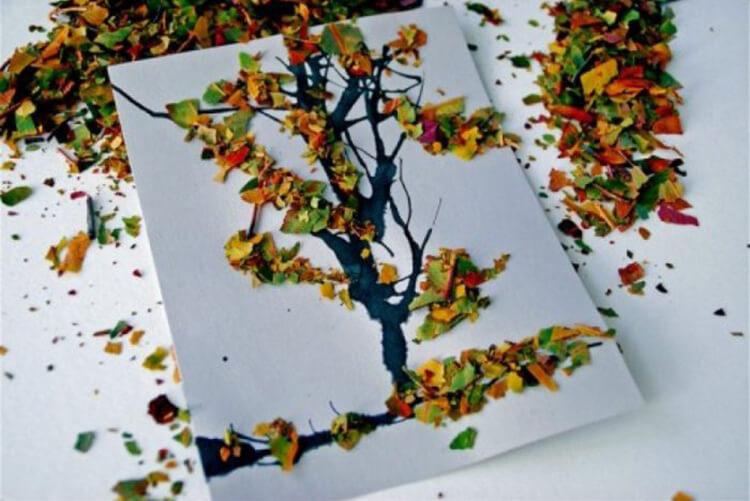 Интересные и красивые поделки из осенних листьев в садик и школу osennie podelki iz listev 69