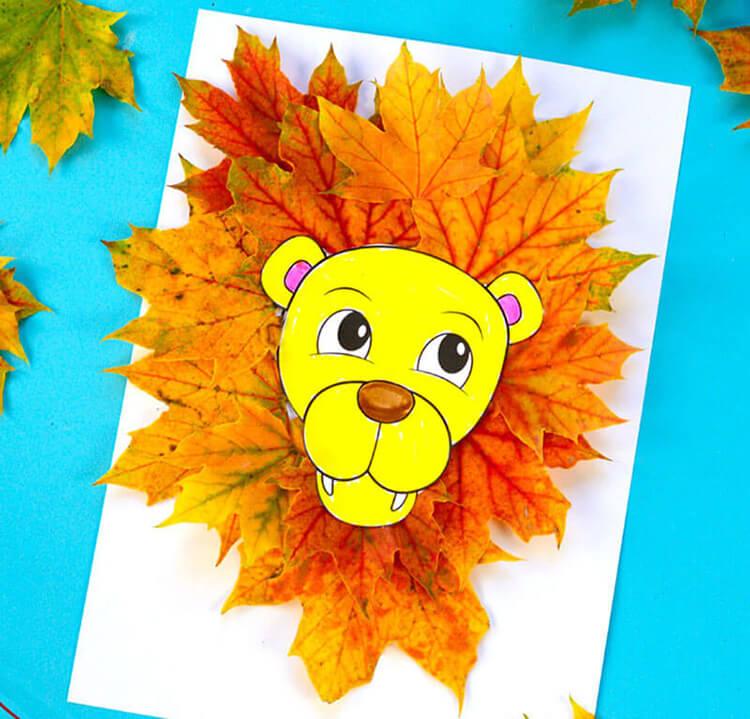 Интересные и красивые поделки из осенних листьев в садик и школу osennie podelki iz listev 70