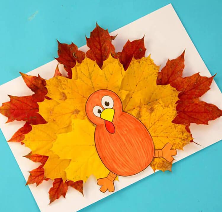 Интересные и красивые поделки из осенних листьев в садик и школу osennie podelki iz listev 73