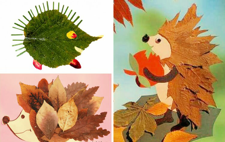 Интересные и красивые поделки из осенних листьев в садик и школу osennie podelki iz listev 77