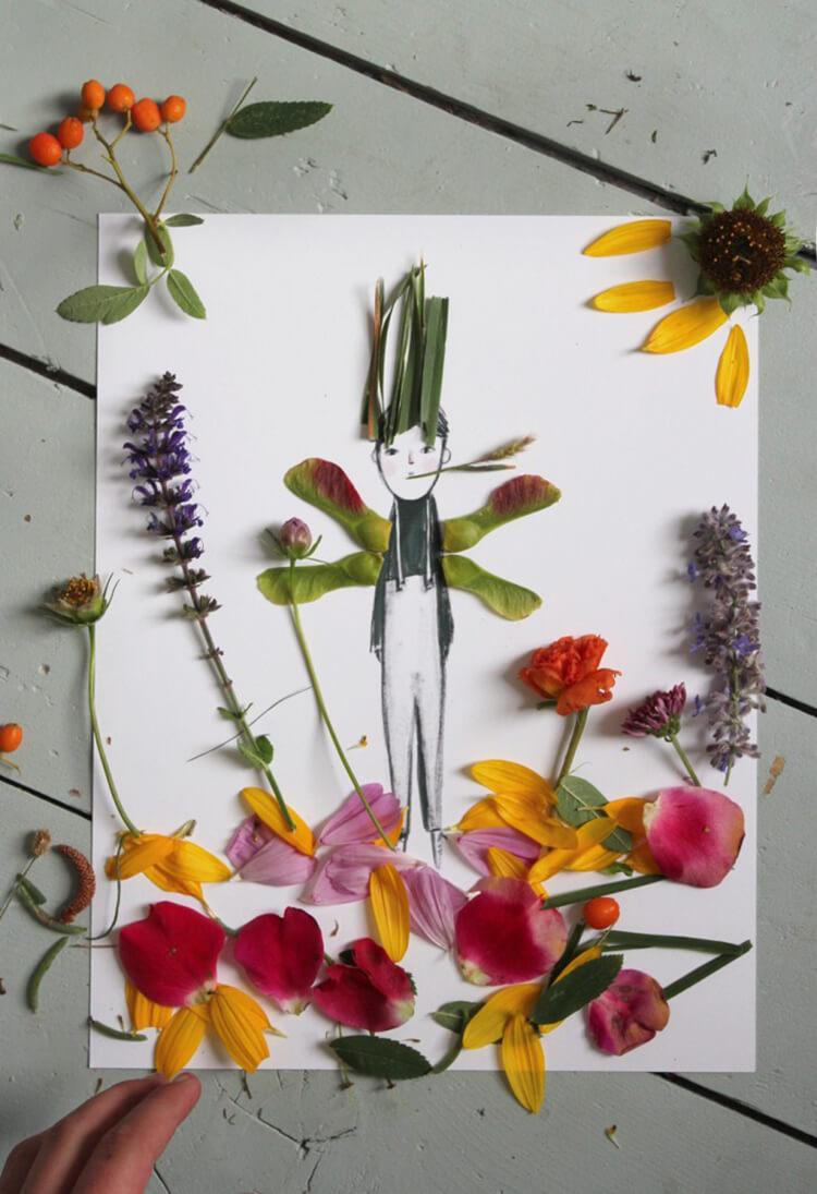 Интересные и красивые поделки из осенних листьев в садик и школу osennie podelki iz listev 78