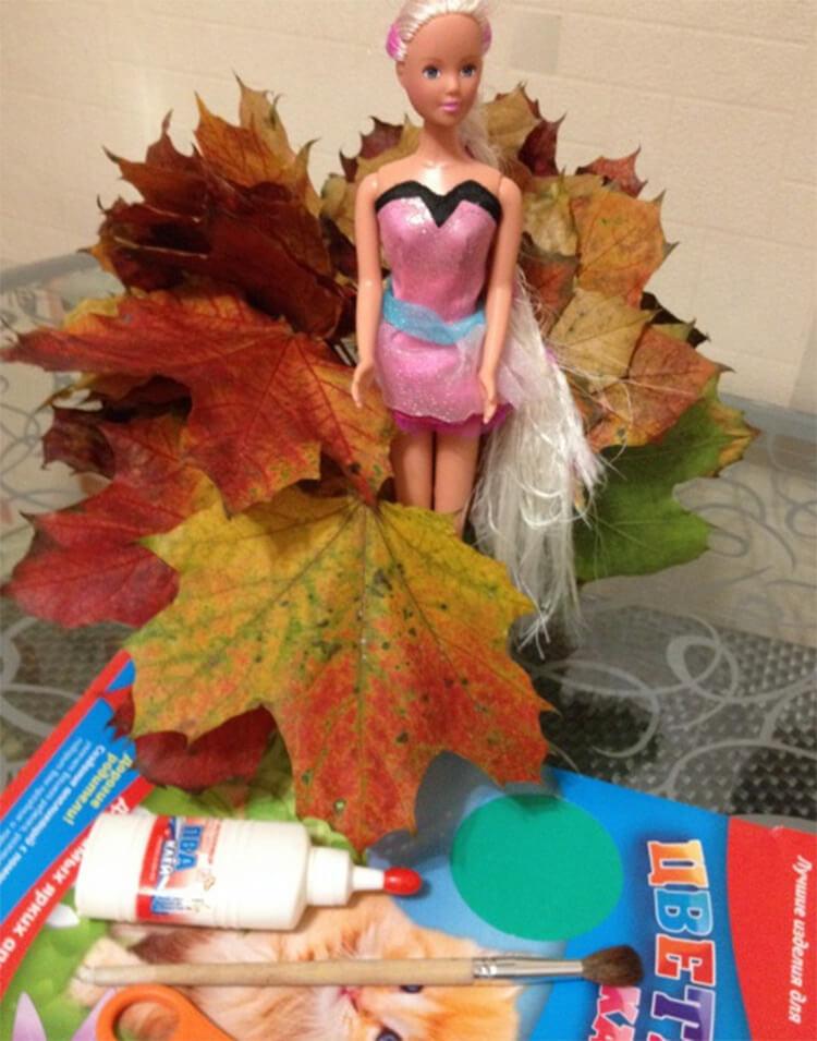 Интересные и красивые поделки из осенних листьев в садик и школу osennie podelki iz listev 81