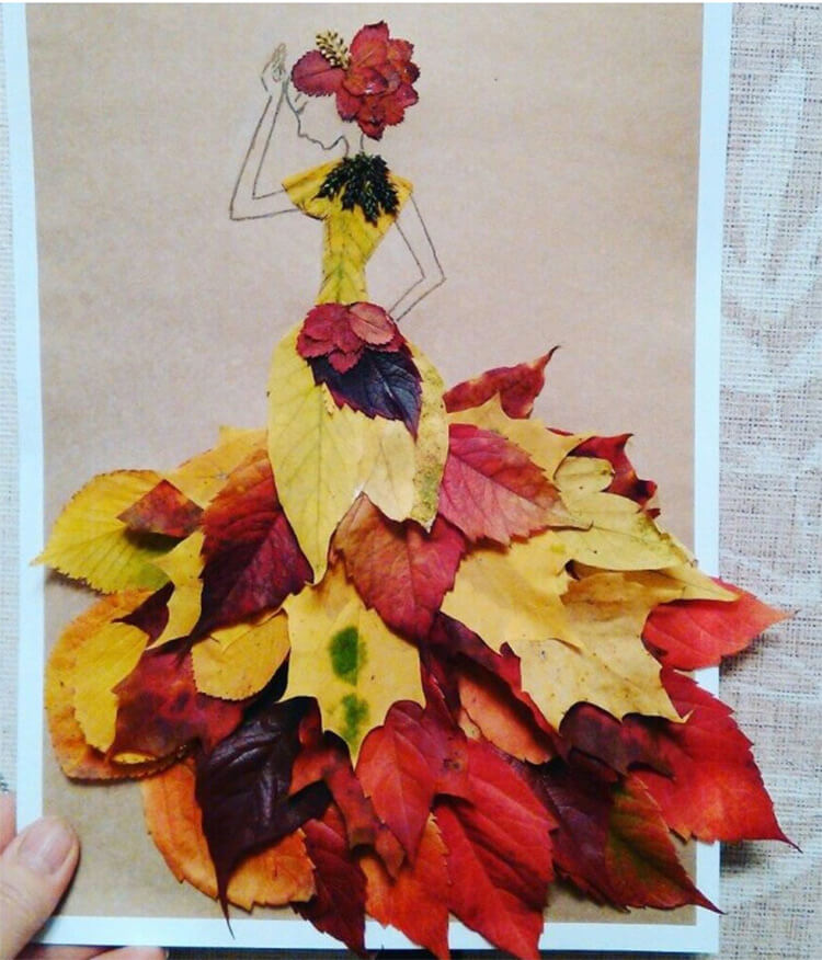Интересные и красивые поделки из осенних листьев в садик и школу osennie podelki iz listev 88