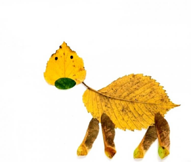 Интересные и красивые поделки из осенних листьев в садик и школу osennie podelki iz listev 92