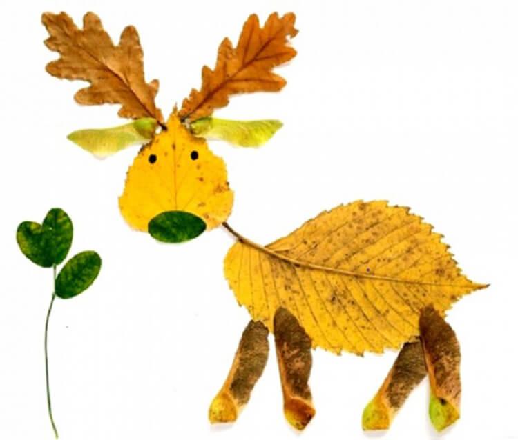 Интересные и красивые поделки из осенних листьев в садик и школу osennie podelki iz listev 94