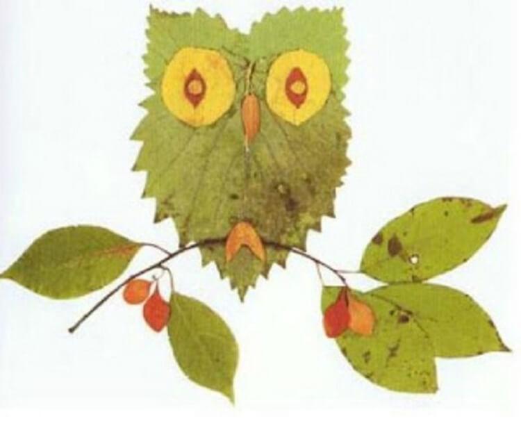 Интересные и красивые поделки из осенних листьев в садик и школу osennie podelki iz listev 95