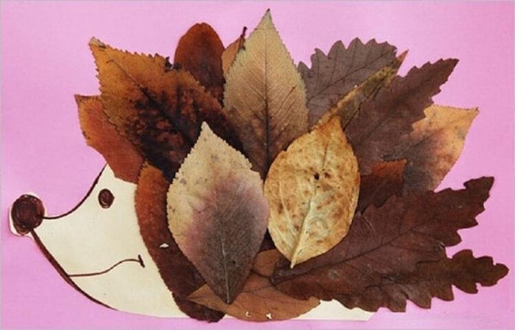 Интересные и красивые поделки из осенних листьев в садик и школу osennie podelki iz listev 96