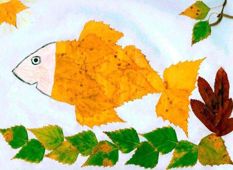 Интересные и красивые поделки из осенних листьев в садик и школу osennie podelki iz listev 98