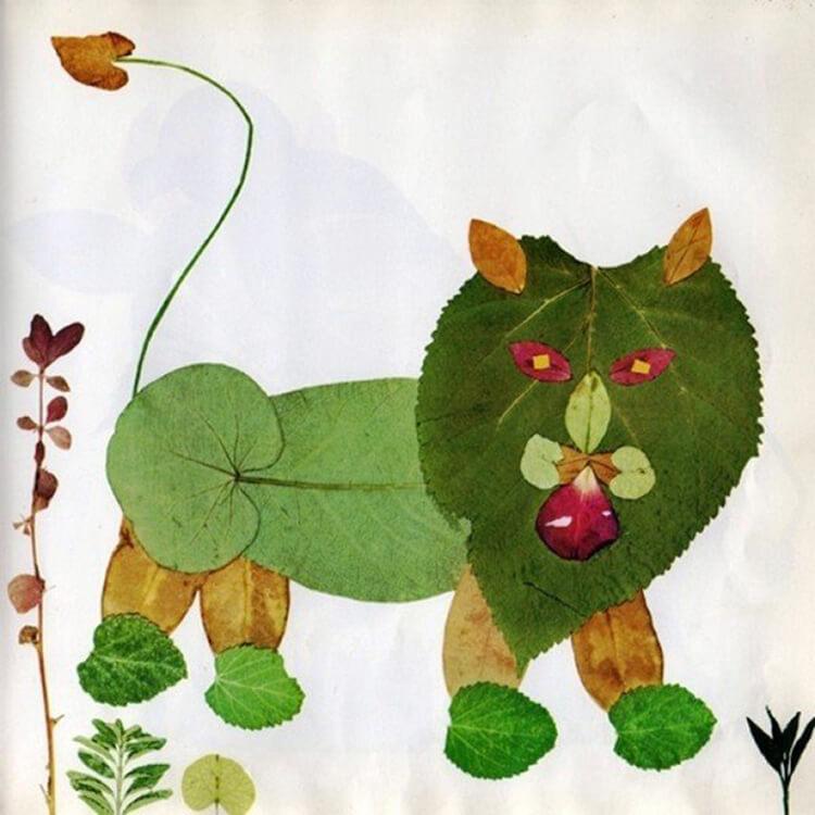 Интересные и красивые поделки из осенних листьев в садик и школу osennie podelki iz listev 99