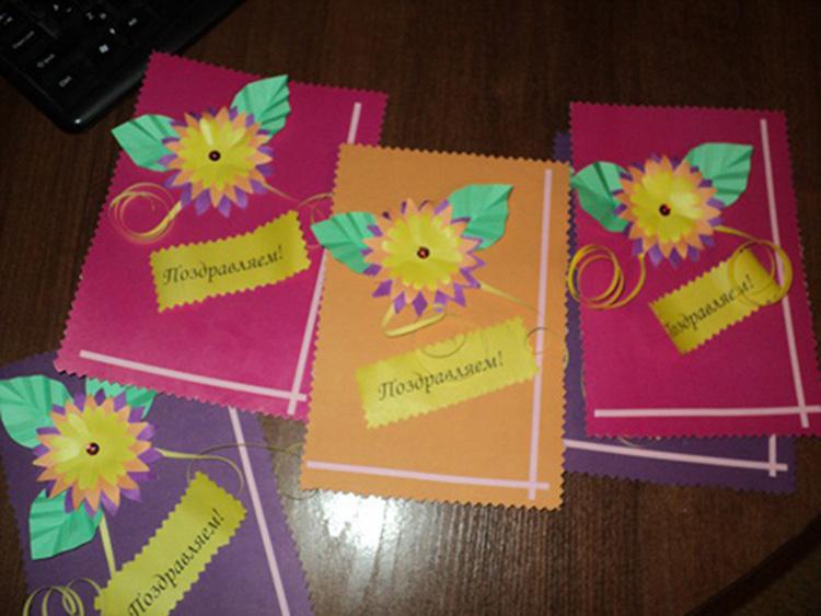 Как сделать открытку на день воспитателя своими, открытка цветами марта