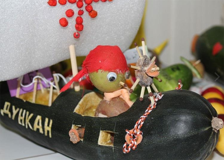 Что можно сделать из кабачка: варианты поделок в садик и школу podelki iz kabachka svoimi rukami 10