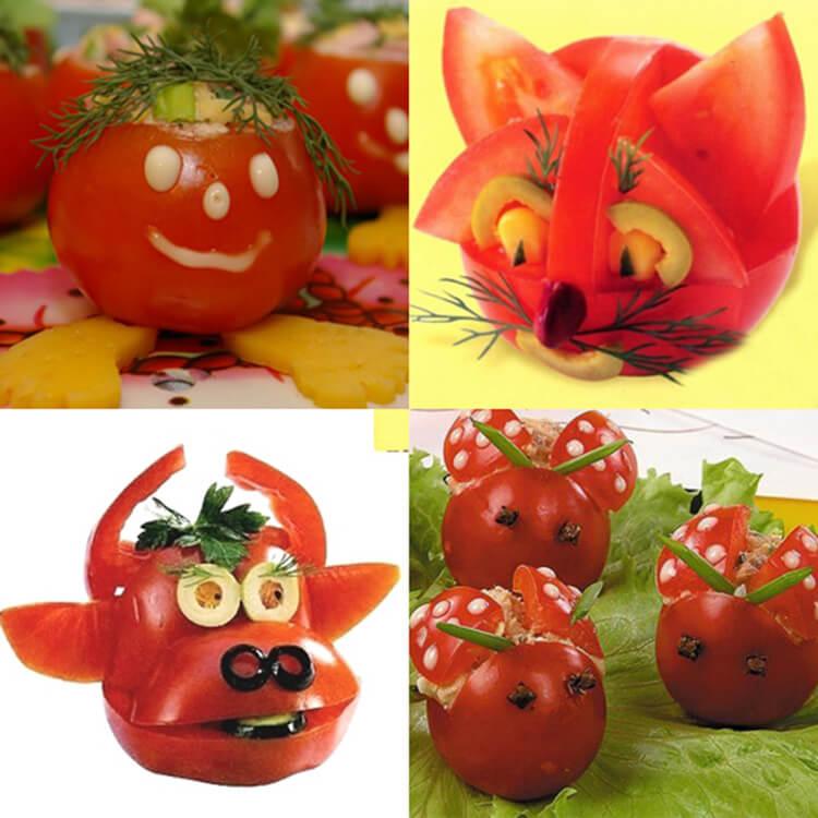 Как сделать поделку из помидор в школу на праздник Осени podelki iz ovoshchej iz pomidor 21