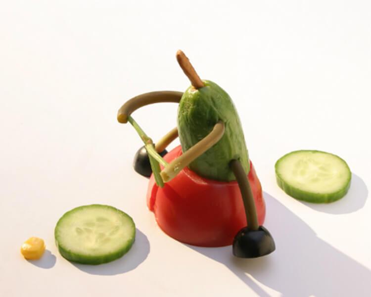 Как сделать поделку из помидор в школу на праздник Осени podelki iz ovoshchej iz pomidor 7
