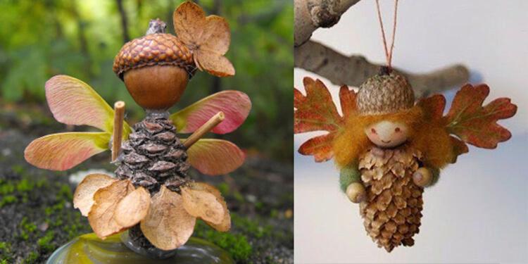 Красивые и оригинальные поделки в школу из природных материалов podelki iz prirodnogo materiala 10