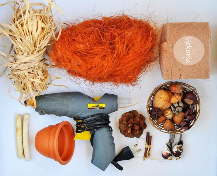 Красивые и оригинальные поделки в школу из природных материалов podelki iz prirodnogo materiala 2