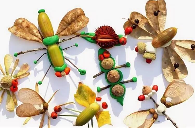 Красивые и оригинальные поделки в школу из природных материалов podelki iz prirodnogo materiala 7