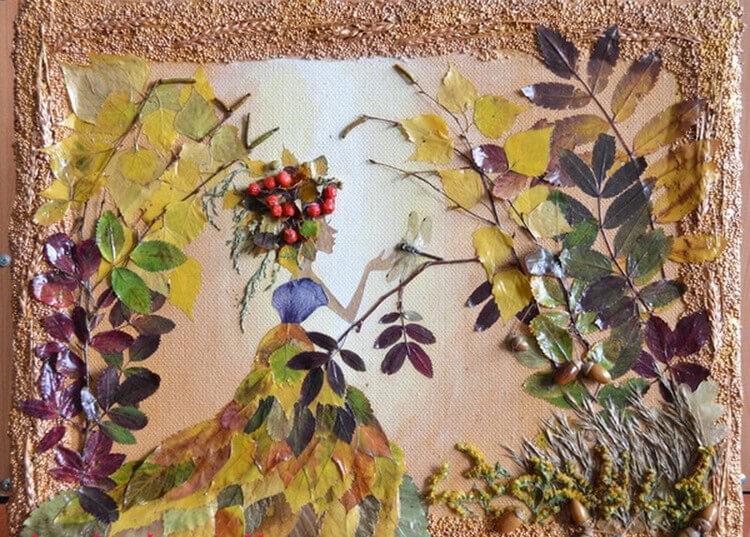 Красивые и оригинальные поделки в школу из природных материалов podelki iz prirodnogo materiala 9