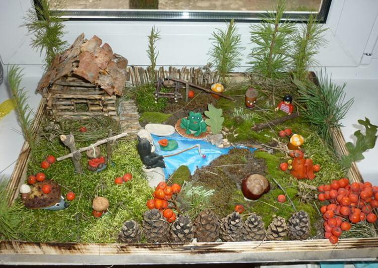 Интересные поделки из шишек в школу на тему Осень podelki iz shishek v shkolu 20
