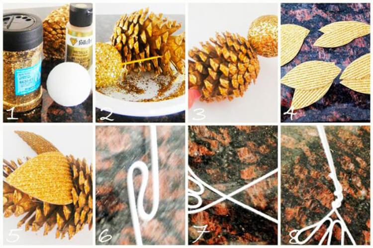 Интересные поделки из шишек в школу на тему Осень podelki iz shishek v shkolu 9