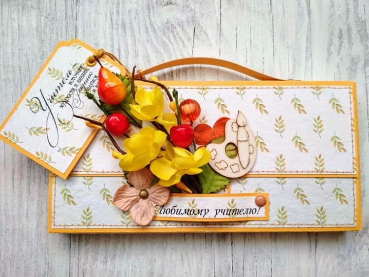 Шоколадница ко дню учителя: оригинальный подарок своими руками shokoladnica na den uchitelya 14
