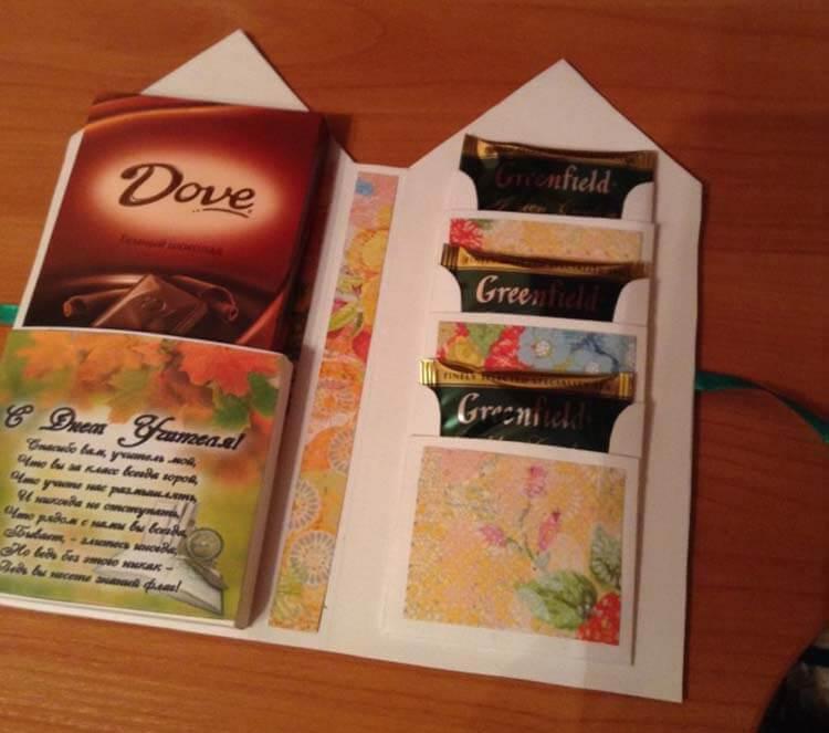 Шоколадница ко дню учителя: оригинальный подарок своими руками shokoladnica na den uchitelya 2