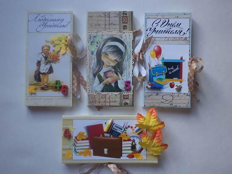 Шоколадница ко дню учителя: оригинальный подарок своими руками shokoladnica na den uchitelya 37