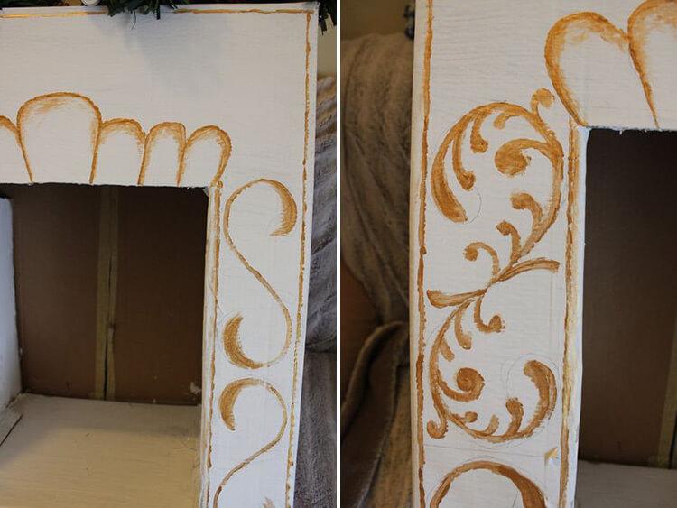 Декоративный камин как украшение комнаты на Новый год kamin 18 19