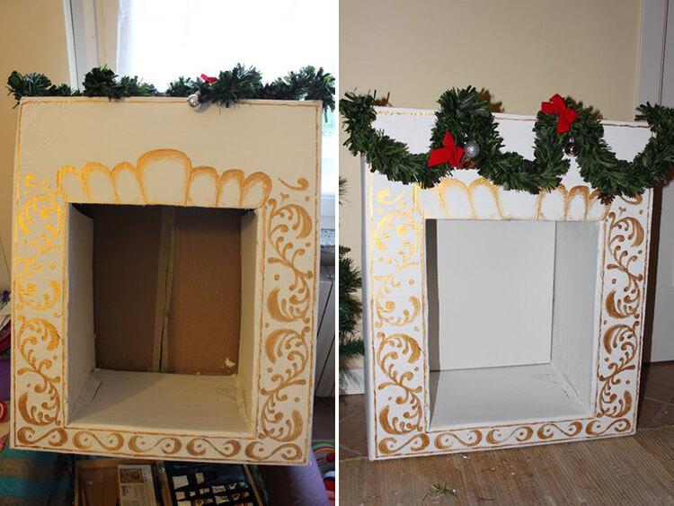 Декоративный камин как украшение комнаты на Новый год kamin 20 21