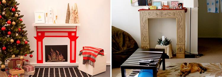 Декоративный камин как украшение комнаты на Новый год kamin 30 31