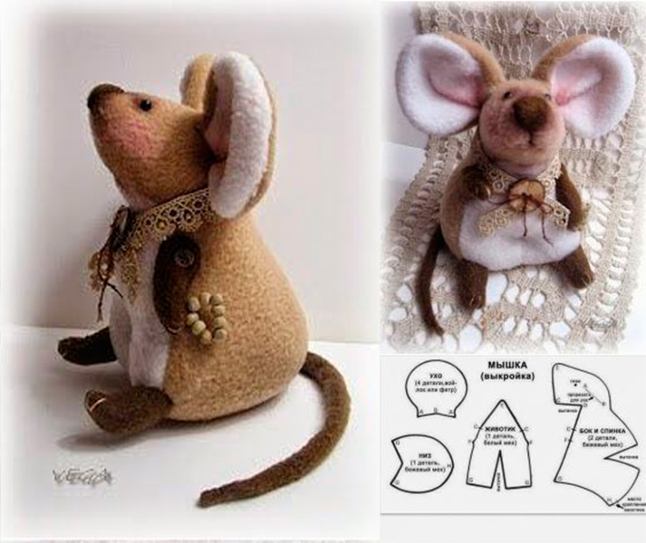 Как сделать крысу из фетра: пошаговые мастер классы myshka iz fetra 31