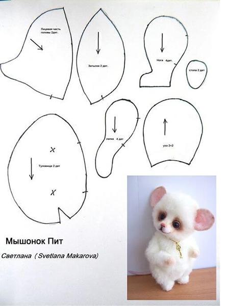 Как сделать крысу из фетра: пошаговые мастер классы myshka iz fetra 32