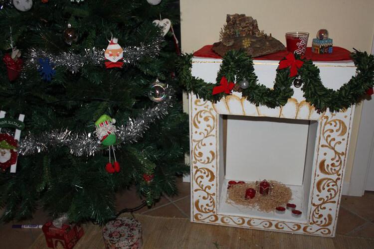 Декоративный камин как украшение комнаты на Новый год novogodnij kamin svoimi rukami 22