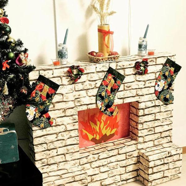 Декоративный камин как украшение комнаты на Новый год novogodnij kamin svoimi rukami 40