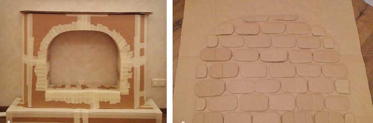 Декоративный камин как украшение комнаты на Новый год novogodnij kamin svoimi rukami 50