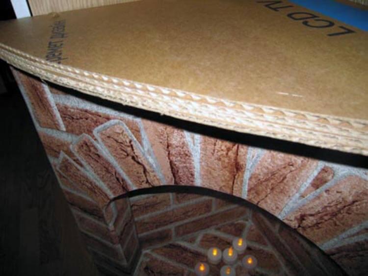 Декоративный камин как украшение комнаты на Новый год novogodnij kamin svoimi rukami 56