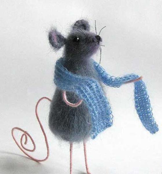 Вязаный подарок на НГ: символ года 2020 Крыса крючком и спицами simvol 2020 goda 12