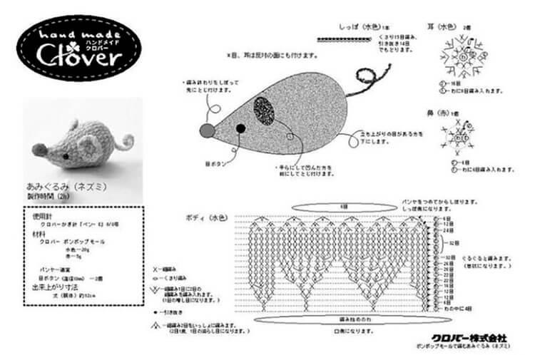 Вязаный подарок на НГ: символ года 2020 Крыса крючком и спицами simvol 2020 goda 3 1