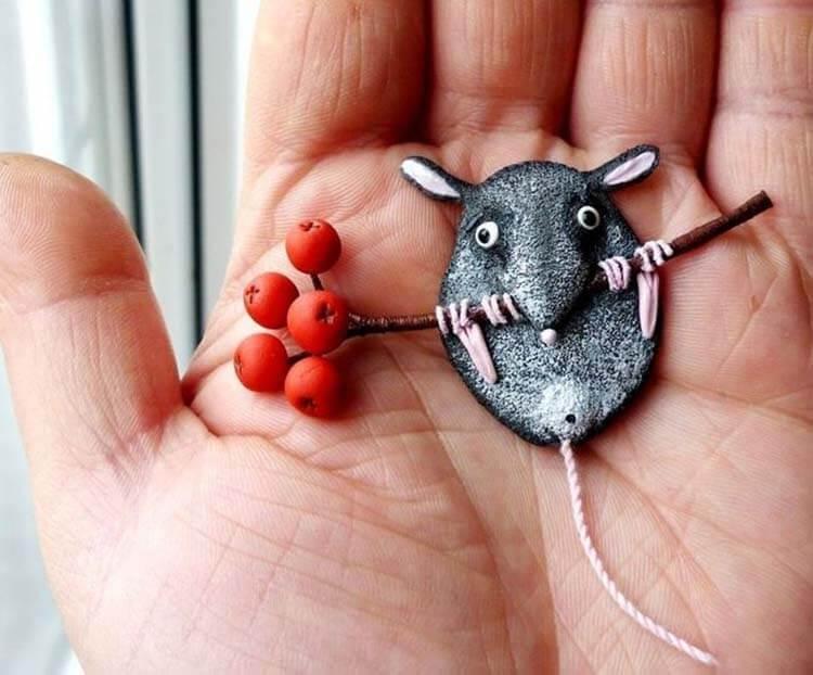 Готовимся к году Крысы: поделки на 2020 год simvol 2020 goda 4