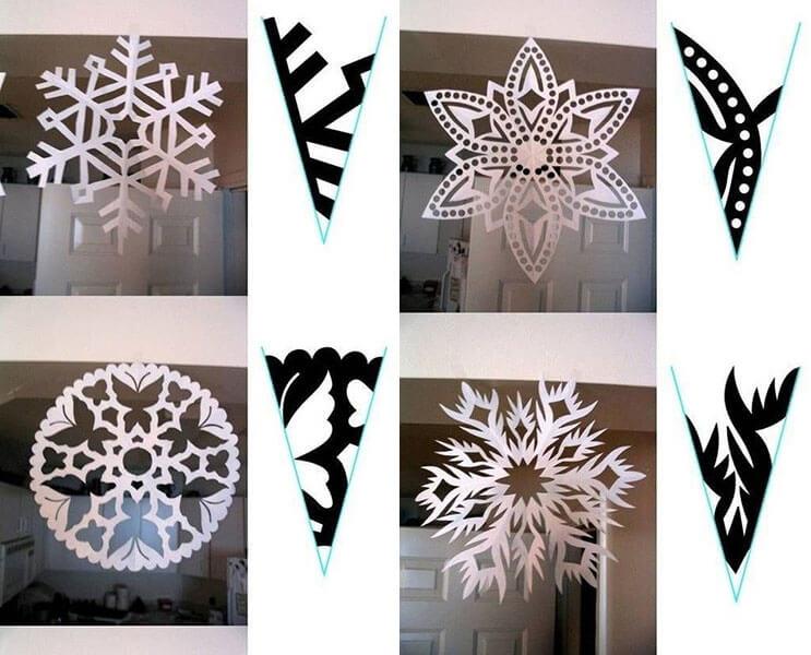 Красивые оригинальные снежинки на Новый год: создаем своими руками, шаблоны с фото 32 33
