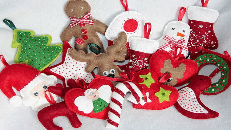 Новогодние поделки из фетра: что можно сделать своими руками как украшение елки и дома iz fetra ng 1