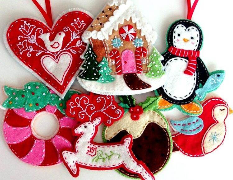 Новогодние поделки из фетра: что можно сделать своими руками как украшение елки и дома iz fetra ng 119