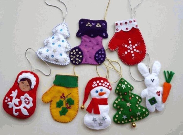 Новогодние поделки из фетра: что можно сделать своими руками как украшение елки и дома iz fetra ng 120