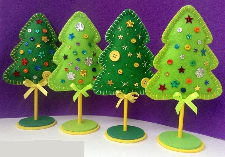 Новогодние поделки из фетра: что можно сделать своими руками как украшение елки и дома iz fetra ng 24
