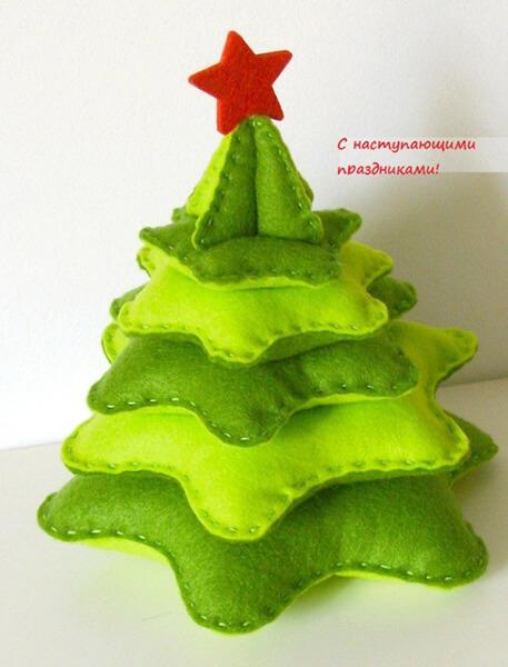 Новогодние поделки из фетра: что можно сделать своими руками как украшение елки и дома iz fetra ng 26