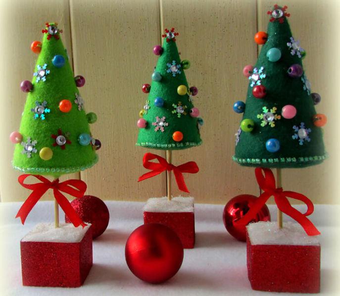 Новогодние поделки из фетра: что можно сделать своими руками как украшение елки и дома iz fetra ng 27
