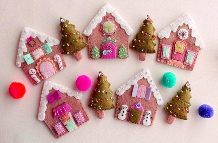 Новогодние поделки из фетра: что можно сделать своими руками как украшение елки и дома iz fetra ng 39