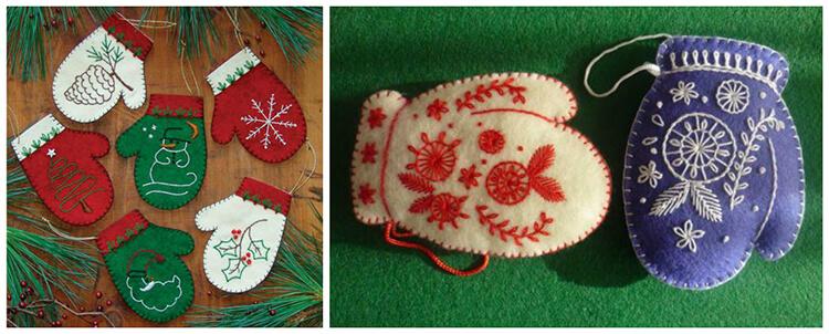Новогодние поделки из фетра: что можно сделать своими руками как украшение елки и дома iz fetra ng 48