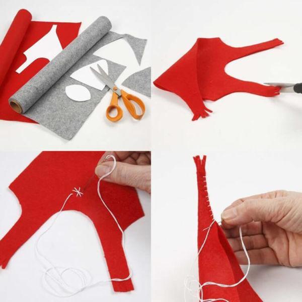 Новогодние поделки из фетра: что можно сделать своими руками как украшение елки и дома iz fetra ng 55