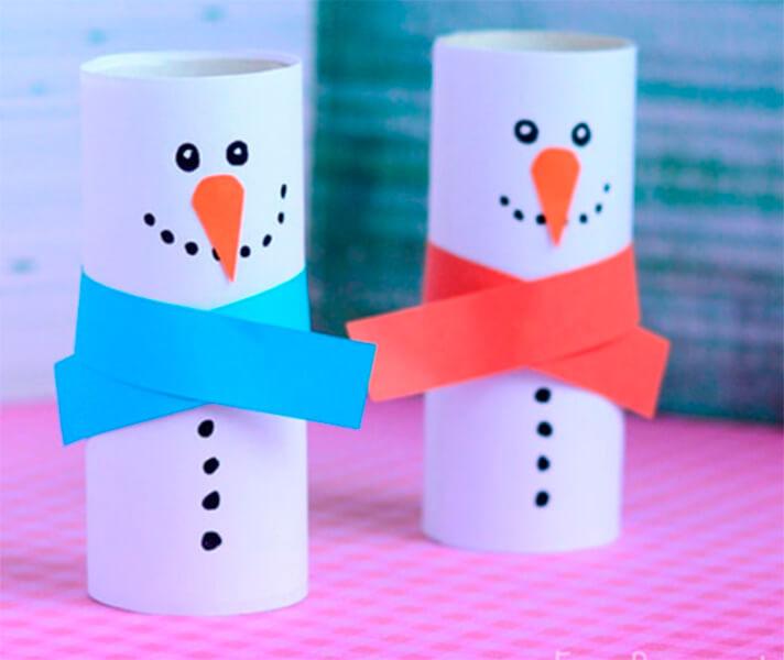 Делаем снеговика своими руками к новому году : различные способы  с фото podelka snegovik svoimi rukami 10